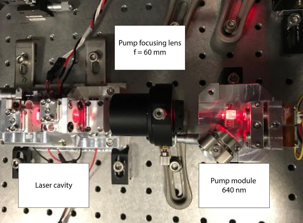 Laser cavity photograph