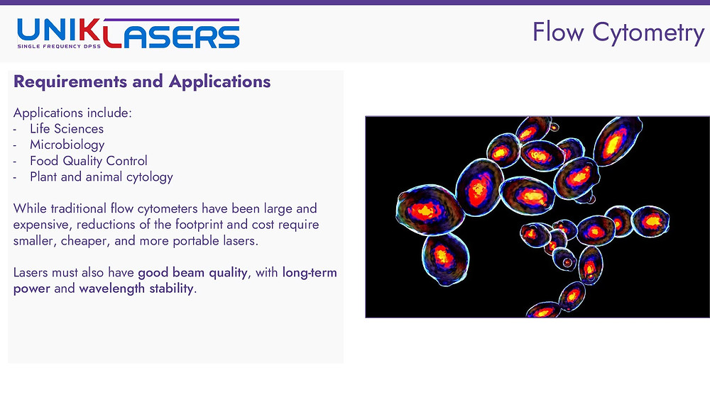 Flow cytometry laser requirements and applications