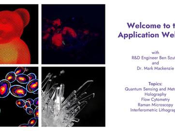 Application Webinar On Demand   Quantum, Holography, Raman, Cytometry, Interferometry
