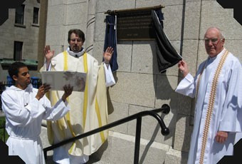 Unveiling of plaque Fr. Joe and Fr. Step