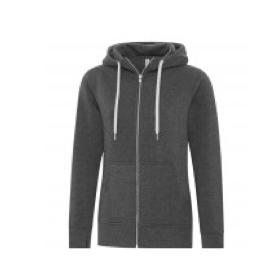 Full Zip Hooded Ladies Sweatshirt