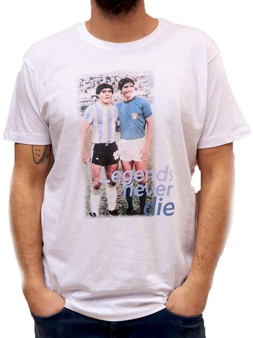 T-shirt Rossi e Maradona