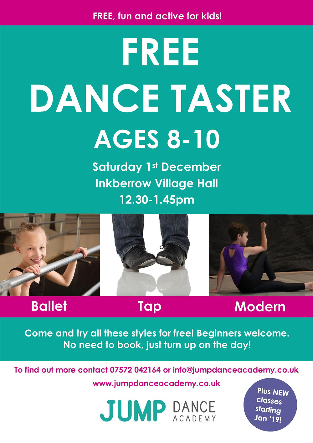 Free dance taster day