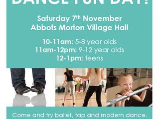 FREE dance fun day - Saturday 7th November