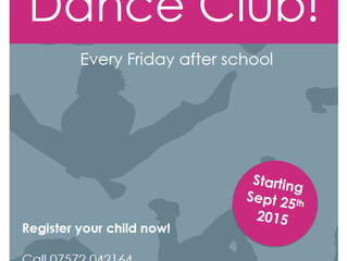 New after school dance club starting at Church Lench First School