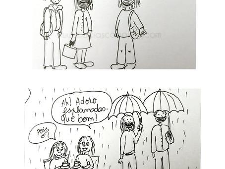 Cartoon - Ida à esplanada!