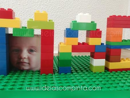 Dia da mãe - moldura com legos