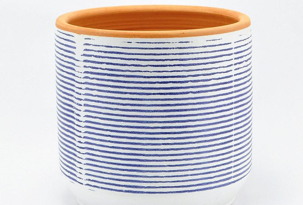 vaso CA blue stripes