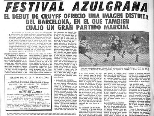 El debut de Cruyff