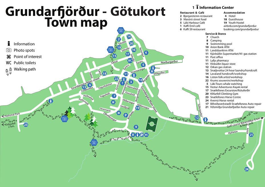 Street map of Grundarfjordur