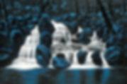 LAVA ROCK FALLS____Original -30 X 48 - F