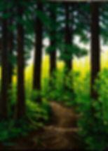 FOREST THRU THE TREES____Original - 18 x