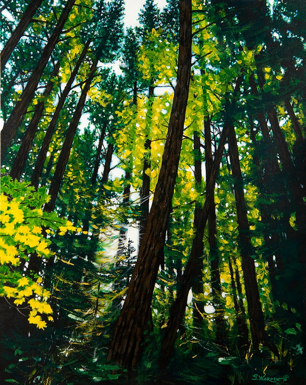 WOODED PAINTING