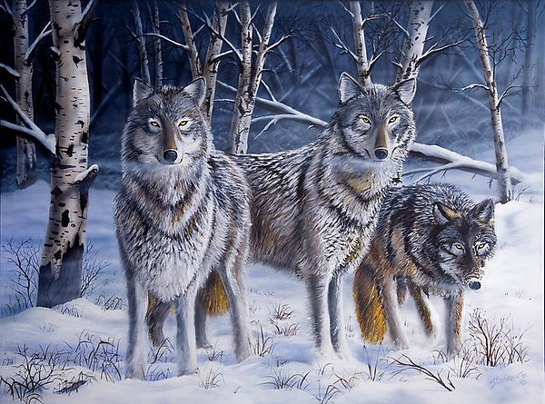 WOLF PACK____Original - SOLD__AVAILABLE
