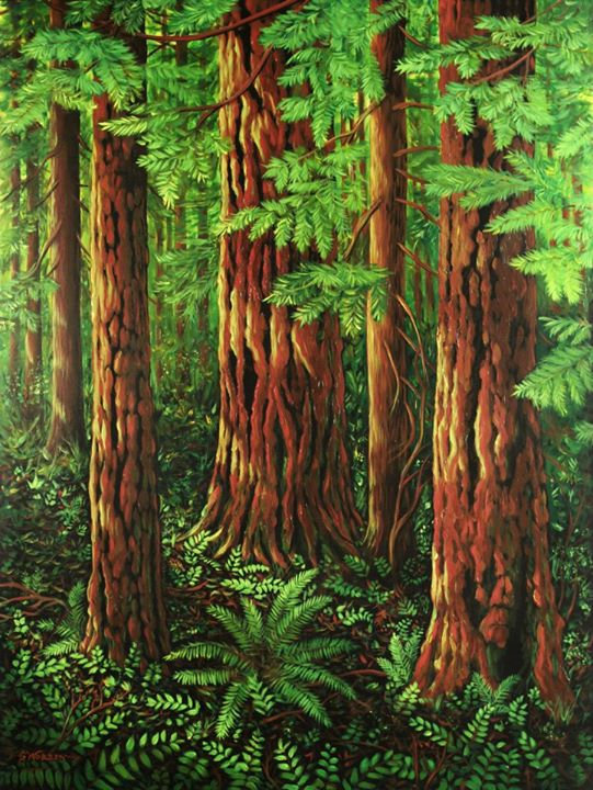 FOREST SCENERY/ PAINTING