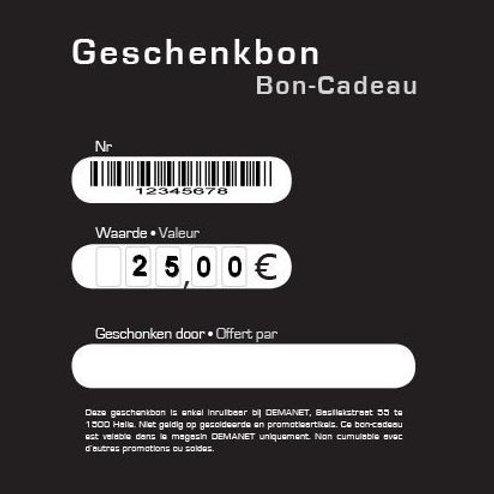 Geschenkbon 25€