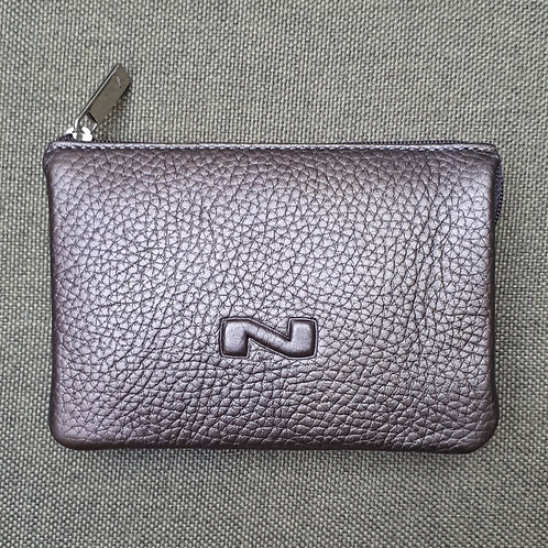 Nathan Multi compartment pouch Metal Bronze