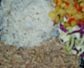 Island-Pig w/ Pineapple Salsa and Steamed Jasmine Rice