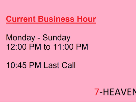 Latest Business Hour~~