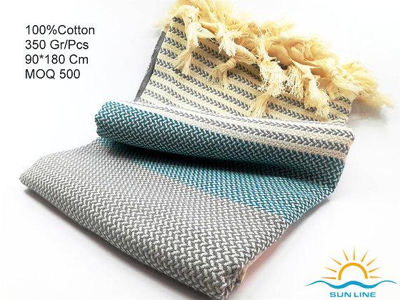 Blue İnk Peshtemal Towel From PeshCraft Denizli