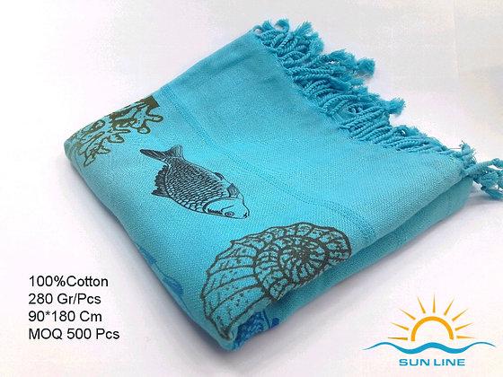 Printed Cotton Peshtemals From PeshCraft Denizli
