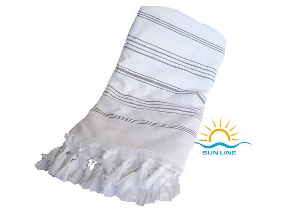 2 in 1 peshtemal & Towel ( Terry&flat ) with Stripes