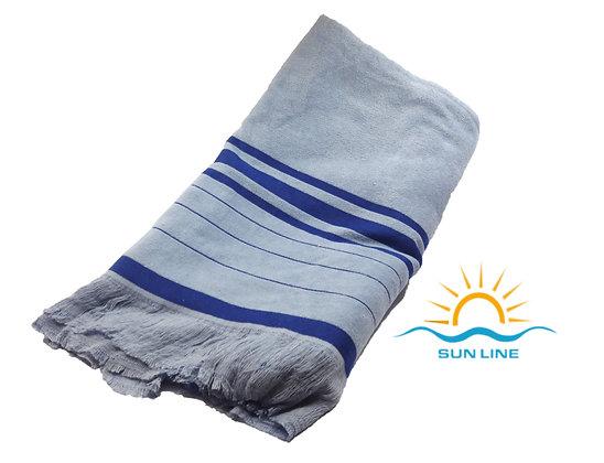 Peshtemal & Towel Same Time Grey Blue Royal
