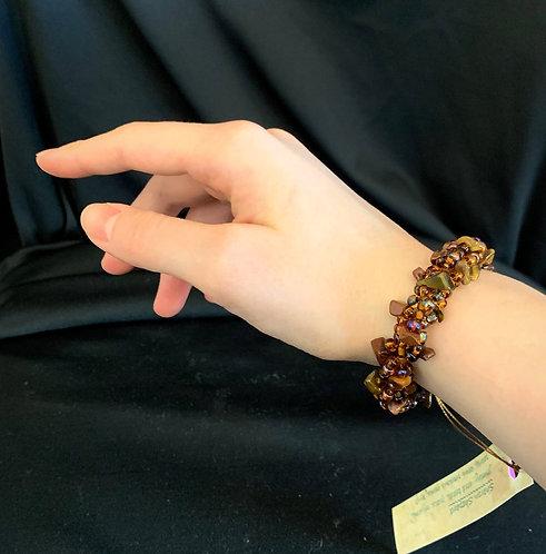 Petite Shades of Brown Bracelet
