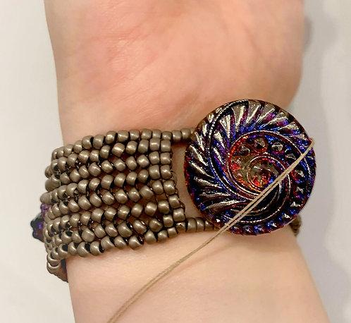 Petite Purple Button Bracelet