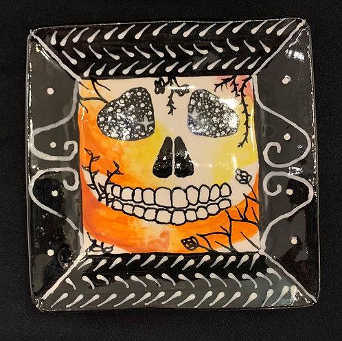 Orange Skull Plate