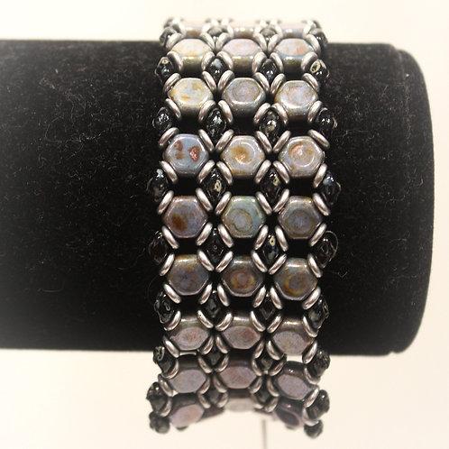 Gray Honeycomb Bracelet