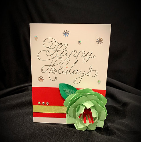 Paper Flower Handmade Card