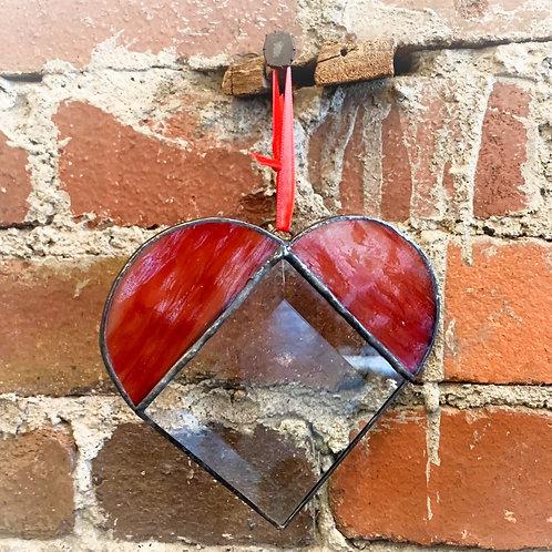 Pink Bevel Heart