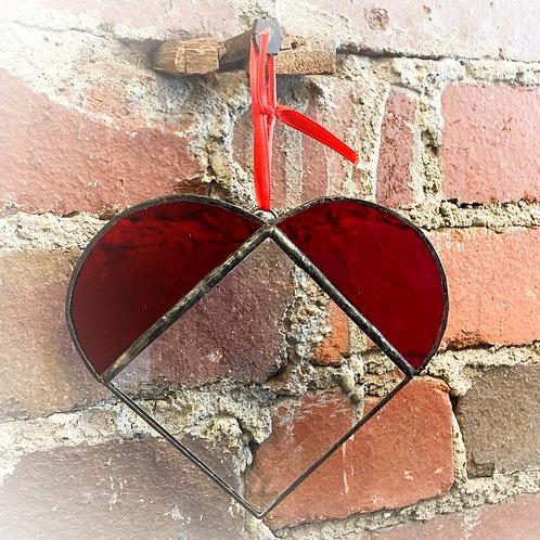 Red Bevel Heart