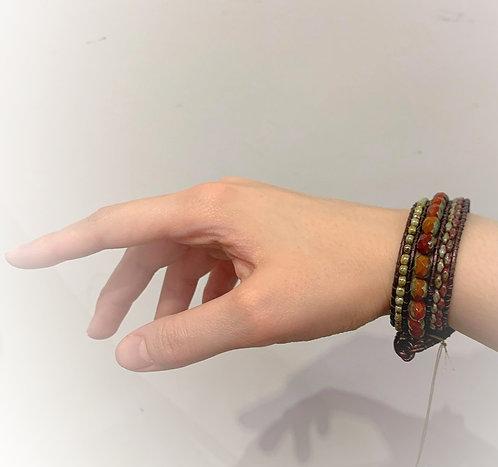 Petite Leather Wrap Bracelet