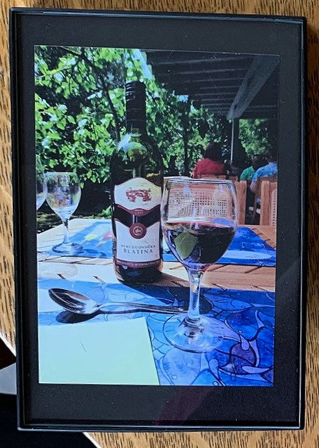 Glass of Wine Small Framed Photo