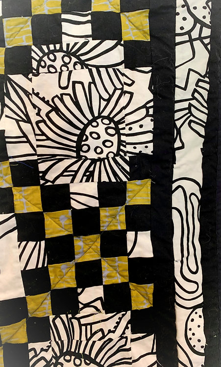 Abstract Flowers Quilt