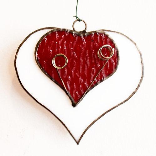 Tri Heart Ornament