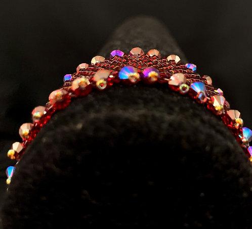 Red Peyote Bracelet
