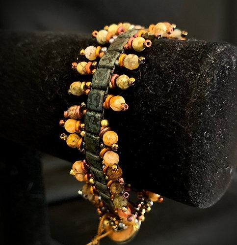 Jasper Button Bracelet