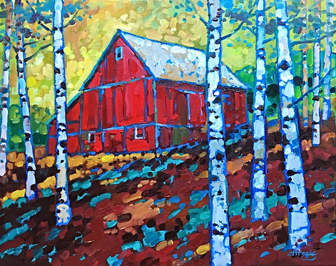 The Barn in the Birches