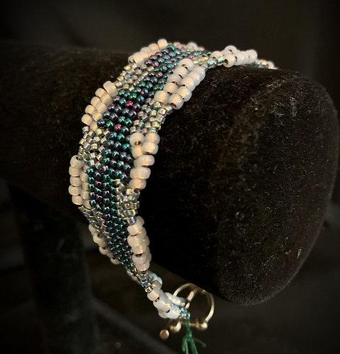 Blue Herringbone Bracelet