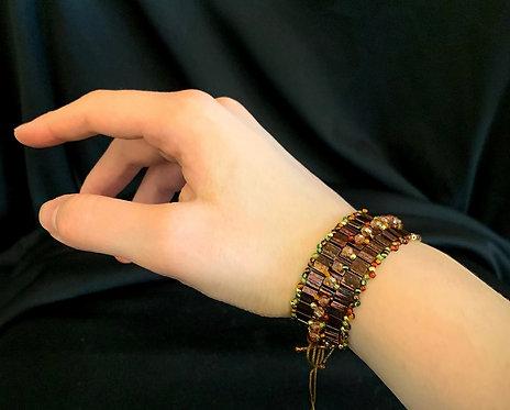 Petite Bronze Green Bracelet