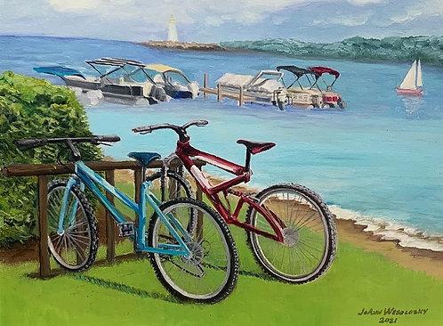 Biking Blue Sky