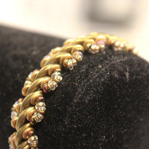 Gold Crescent Bracelet