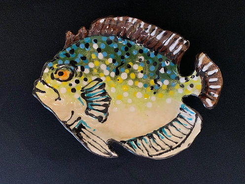 Small Green and Blue Fish Plate