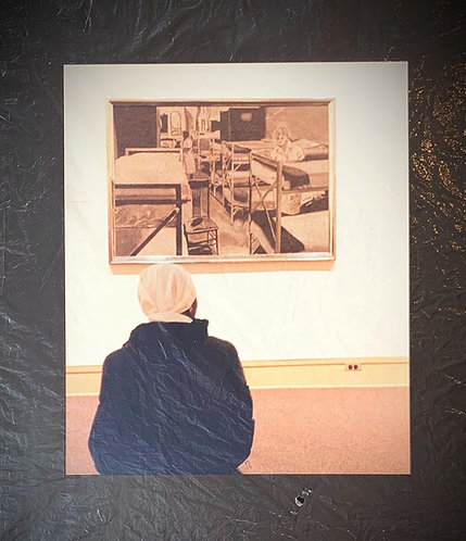 Seated Viewer ( LARGE PRINT)