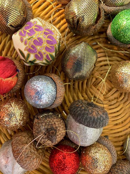 Tiny Surprise Acorn Ornaments