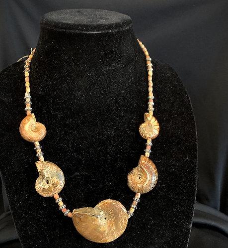 Fossil Jasper Necklace w/ earrings