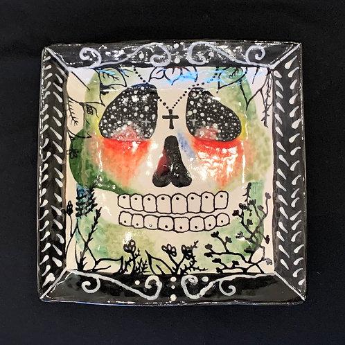Green + Red Skull Plate